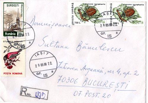 Muzeul scrisorilor Ion Sirbu catre SB plic 29 mai 1998